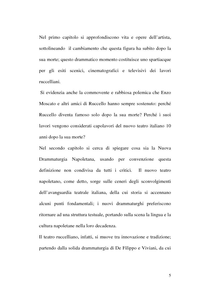 Anteprima della tesi: Sulle ceneri dell'avanguardia. Per il teatro di Annibale Ruccello, Pagina 2