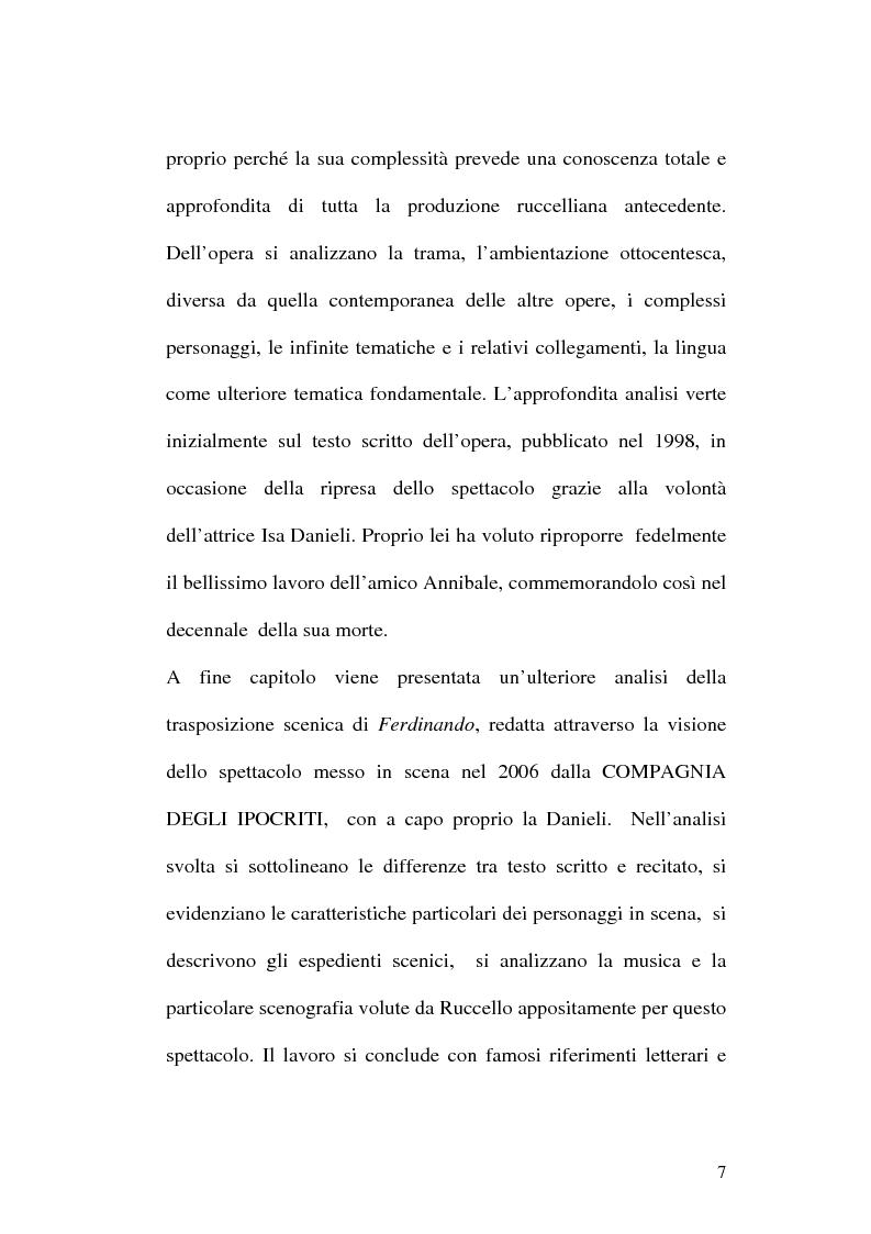 Anteprima della tesi: Sulle ceneri dell'avanguardia. Per il teatro di Annibale Ruccello, Pagina 4