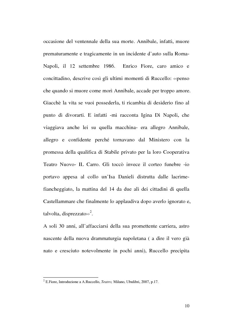 Anteprima della tesi: Sulle ceneri dell'avanguardia. Per il teatro di Annibale Ruccello, Pagina 7