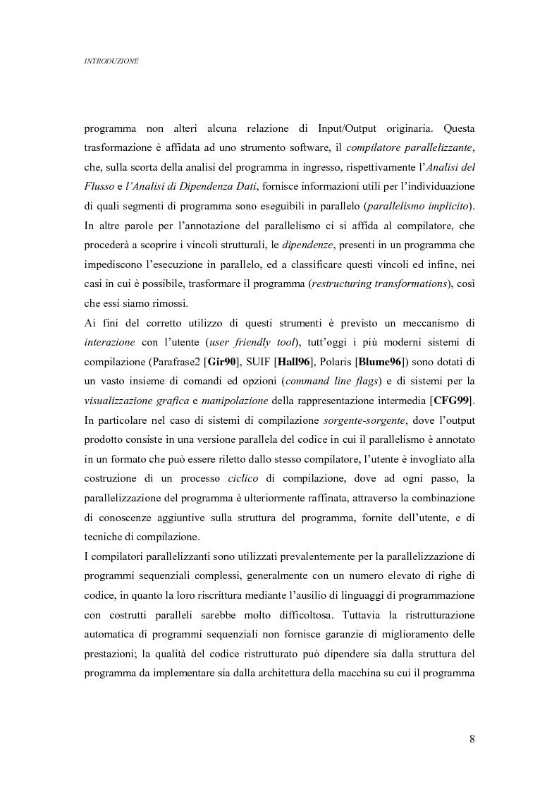 Anteprima della tesi: Analisi di un ambiente simbolico per lo sviluppo di un compilatore parallelizzante, Pagina 2