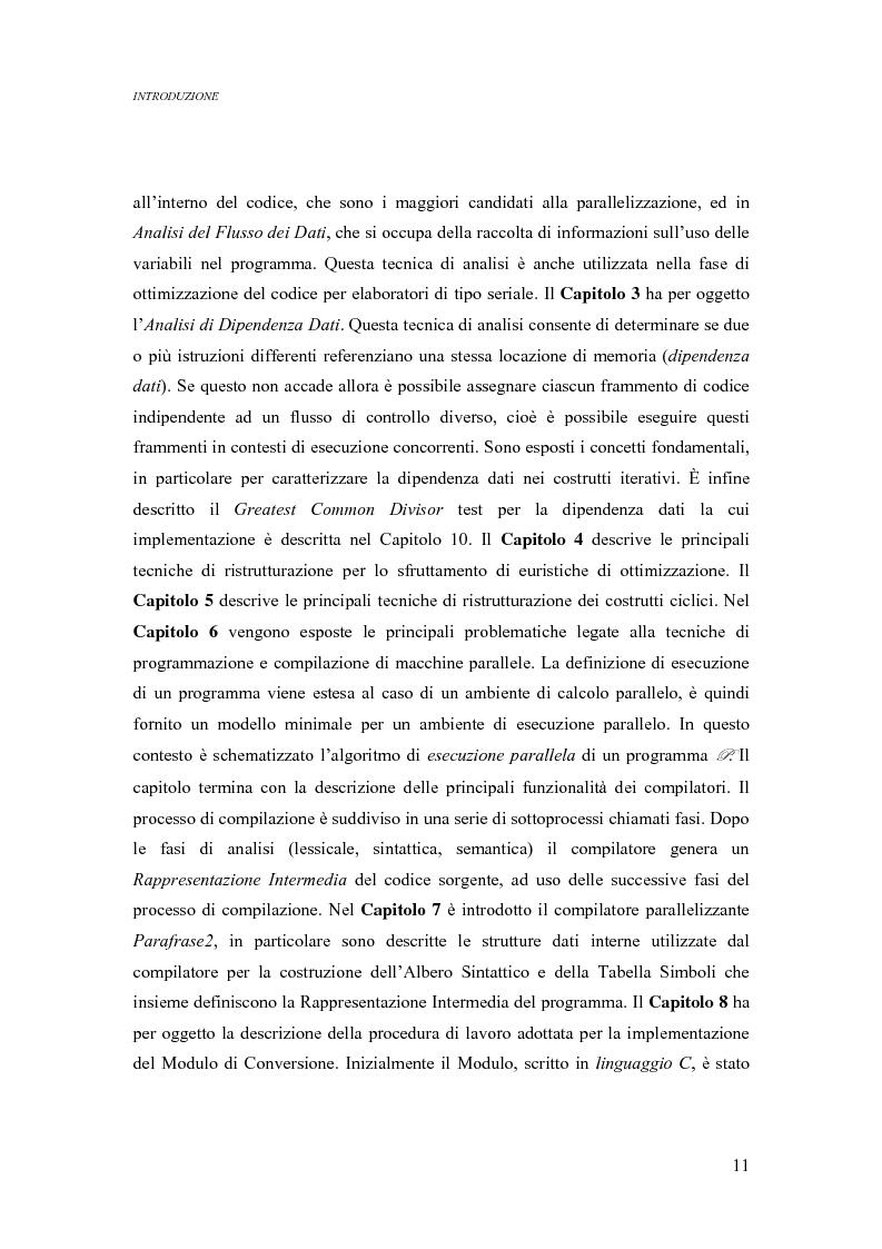 Anteprima della tesi: Analisi di un ambiente simbolico per lo sviluppo di un compilatore parallelizzante, Pagina 5