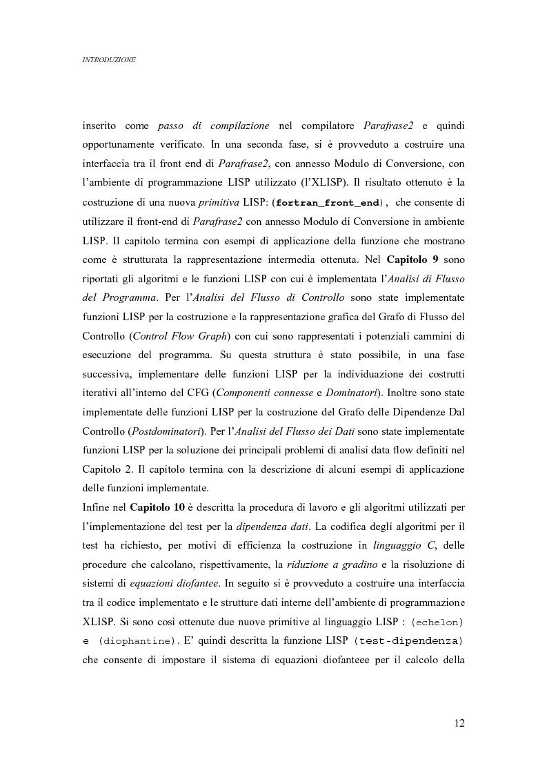 Anteprima della tesi: Analisi di un ambiente simbolico per lo sviluppo di un compilatore parallelizzante, Pagina 6