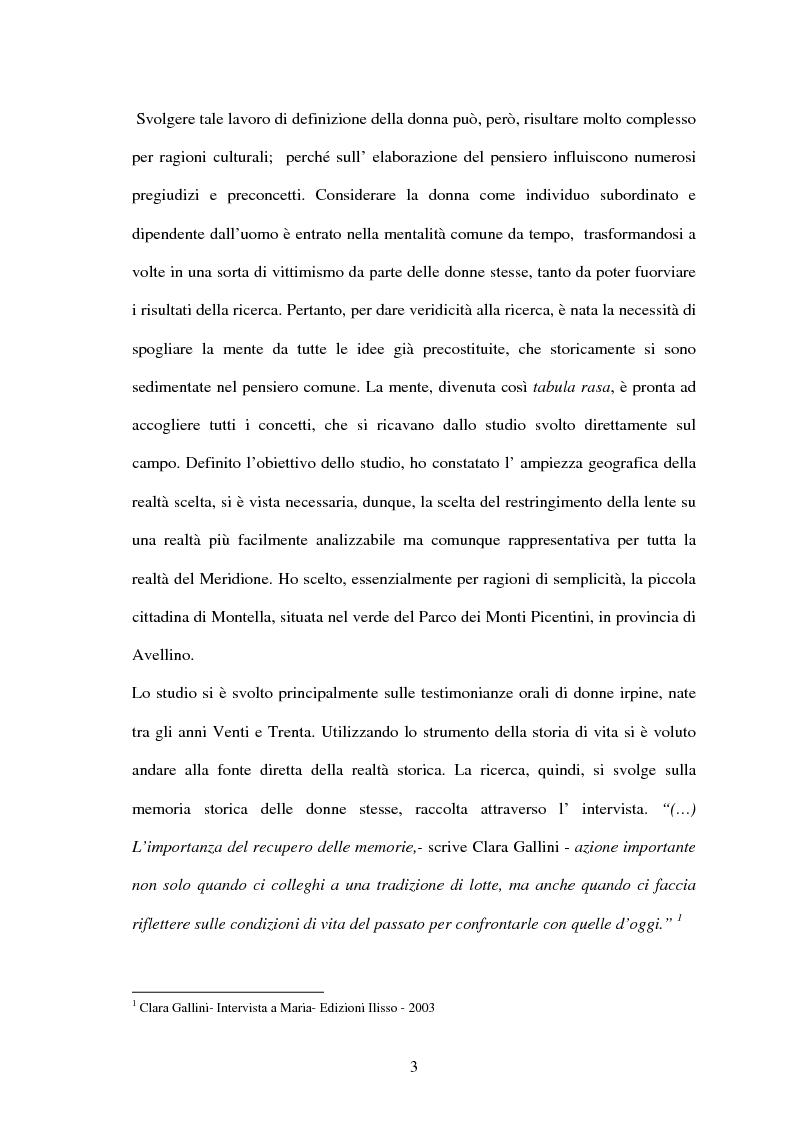Anteprima della tesi: Vita di una donna: dalla realtà alla storia, Pagina 2