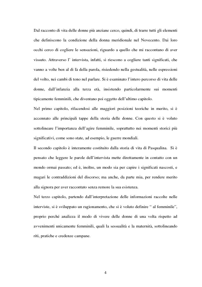 Anteprima della tesi: Vita di una donna: dalla realtà alla storia, Pagina 3