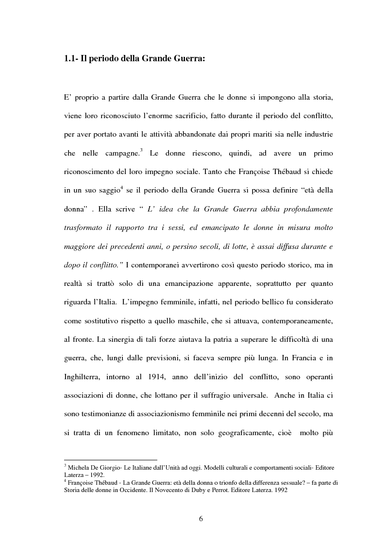 Anteprima della tesi: Vita di una donna: dalla realtà alla storia, Pagina 5