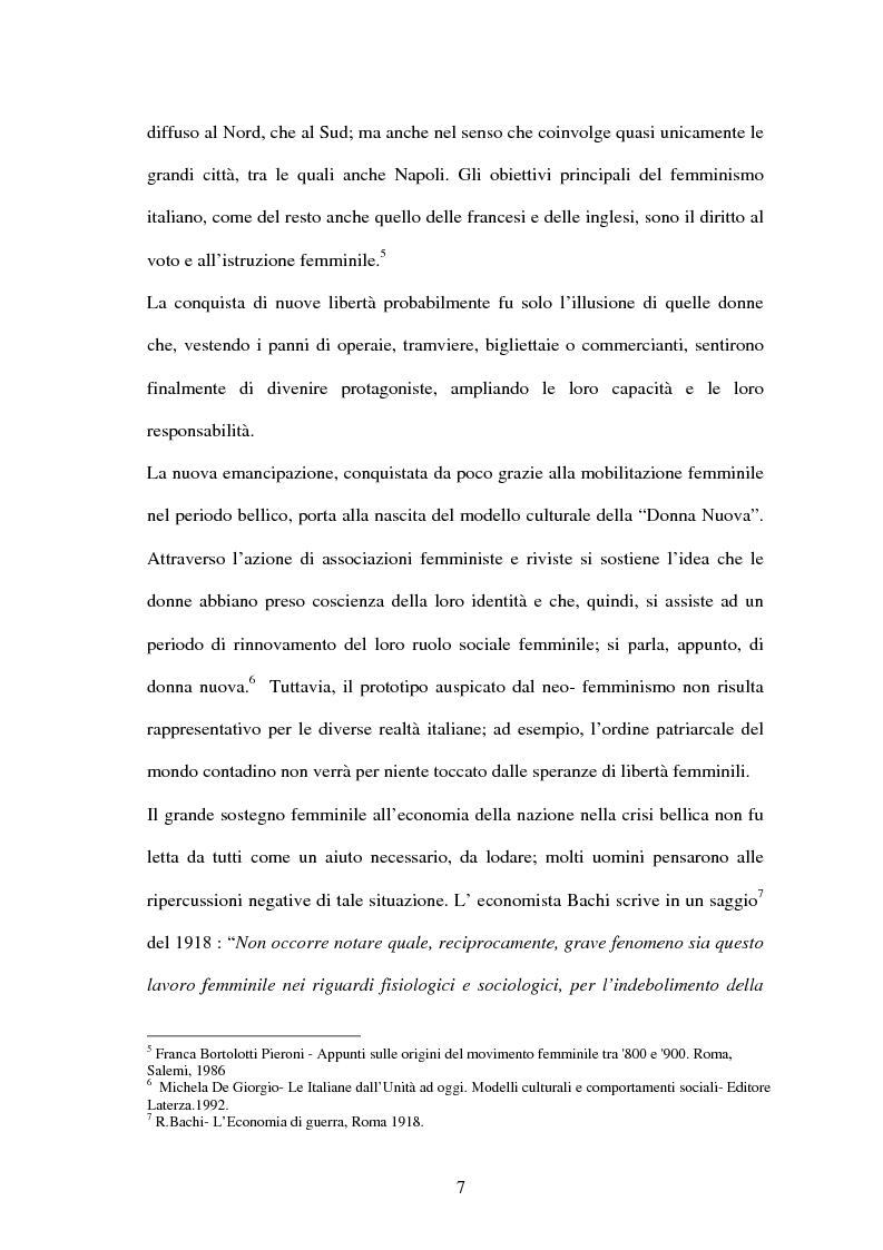 Anteprima della tesi: Vita di una donna: dalla realtà alla storia, Pagina 6