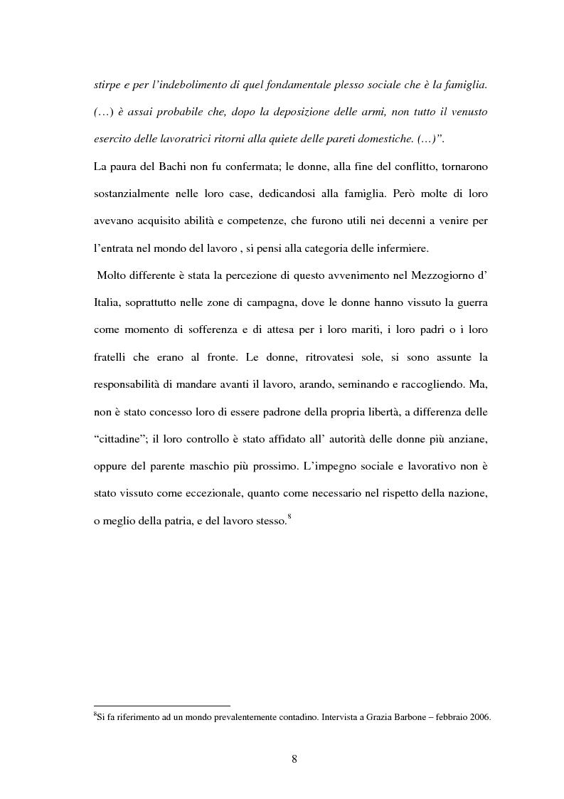 Anteprima della tesi: Vita di una donna: dalla realtà alla storia, Pagina 7