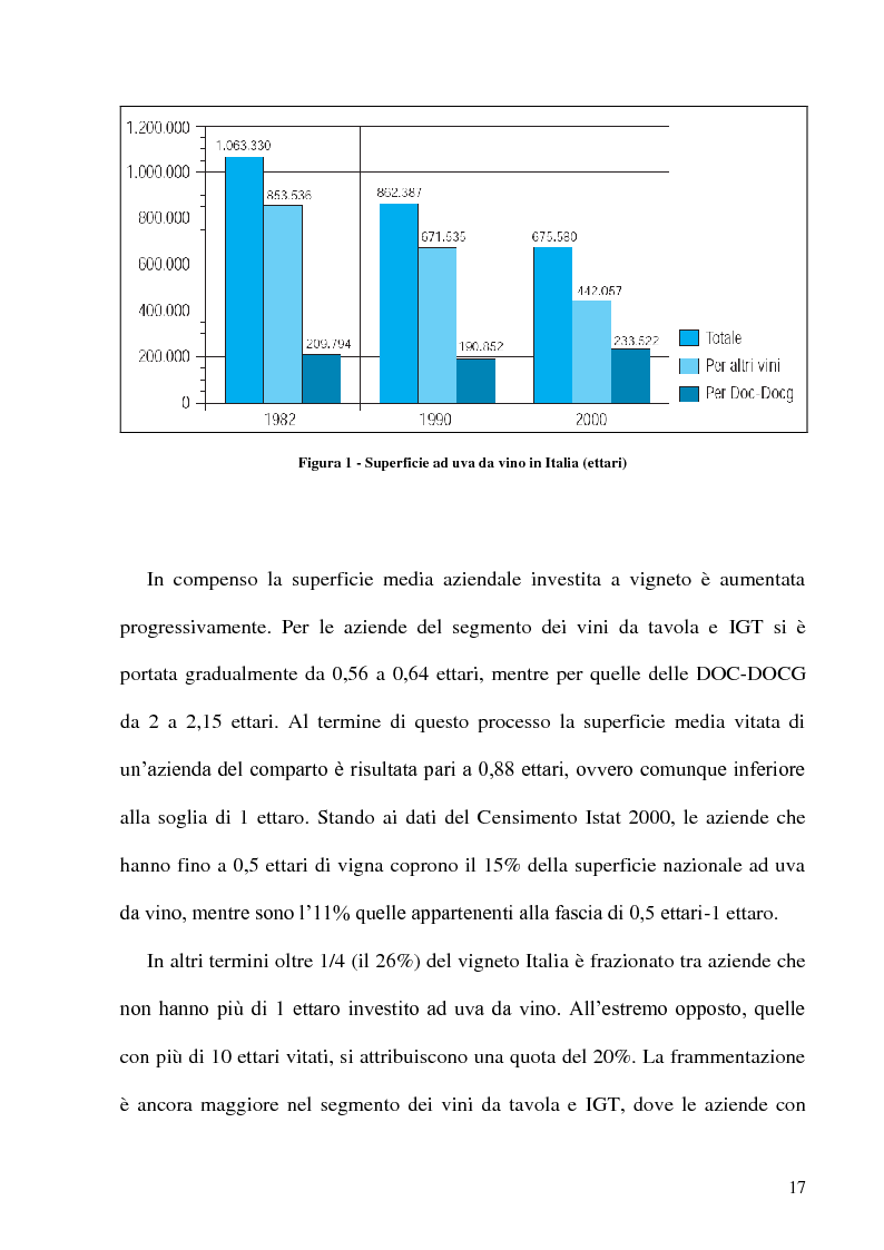 Anteprima della tesi: Caratteristiche strutturali ed economiche del settore viticolo della Tuscia e problematiche di valorizzazione della sua produzione, Pagina 15