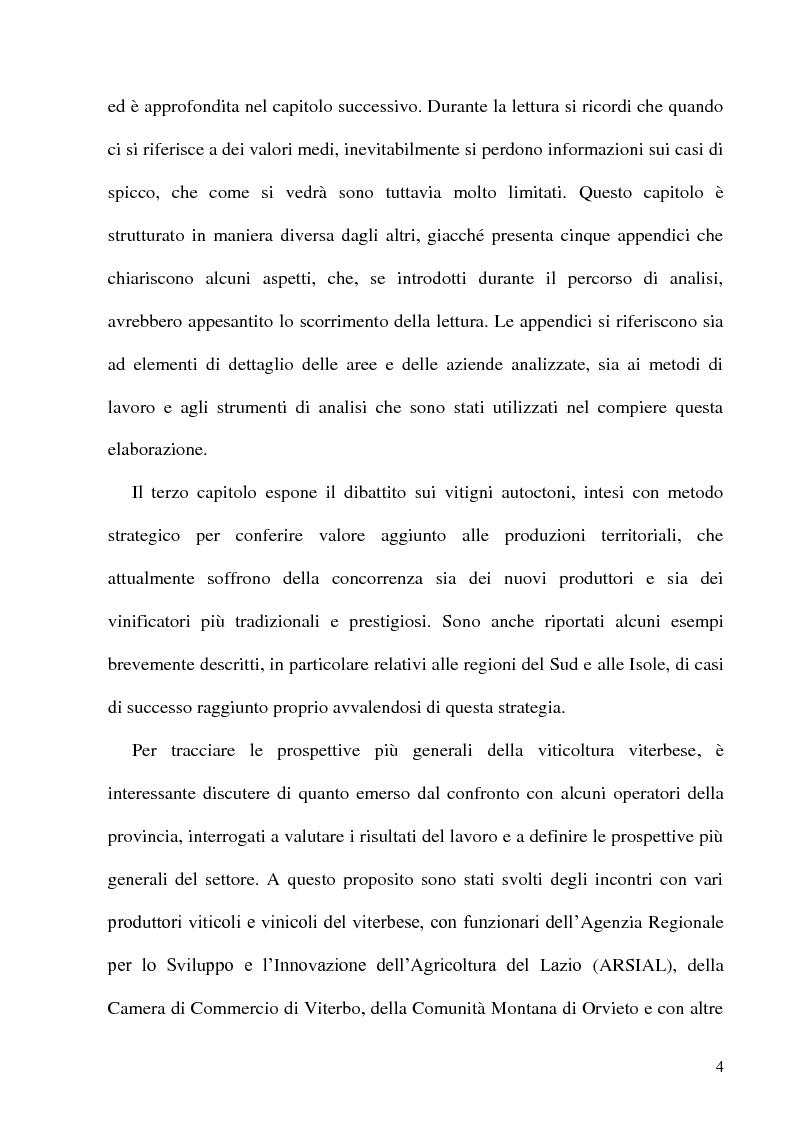 Anteprima della tesi: Caratteristiche strutturali ed economiche del settore viticolo della Tuscia e problematiche di valorizzazione della sua produzione, Pagina 2