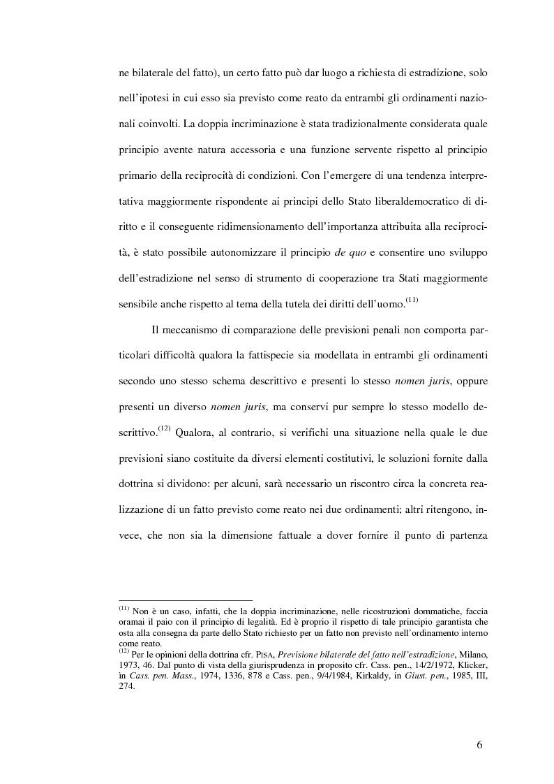 Anteprima della tesi: Il mandato d'arresto europeo. I profili sostanziali della cooperazione degli Stati membri dell'Unione Europea in materia penale tra disciplina comunitaria e principi di garanzia., Pagina 10