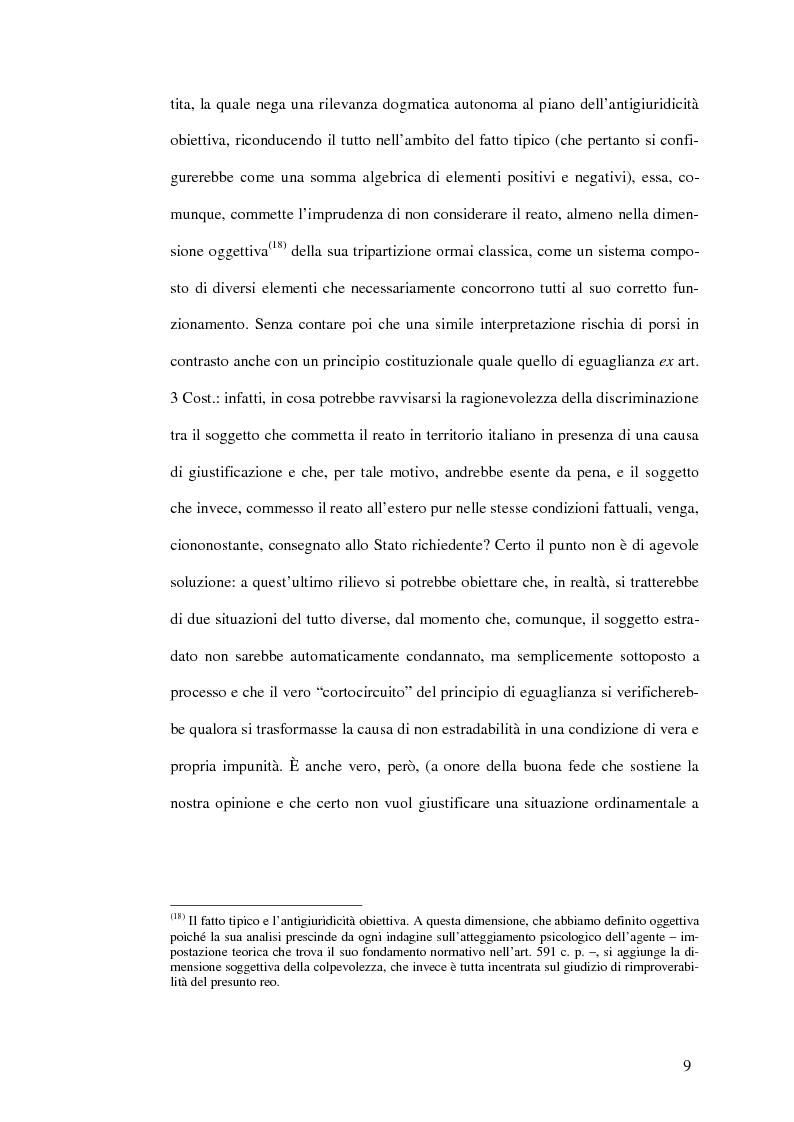 Anteprima della tesi: Il mandato d'arresto europeo. I profili sostanziali della cooperazione degli Stati membri dell'Unione Europea in materia penale tra disciplina comunitaria e principi di garanzia., Pagina 13