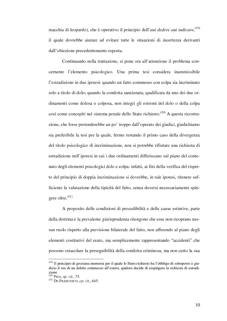 Anteprima della tesi: Il mandato d'arresto europeo. I profili sostanziali della cooperazione degli Stati membri dell'Unione Europea in materia penale tra disciplina comunitaria e principi di garanzia., Pagina 14