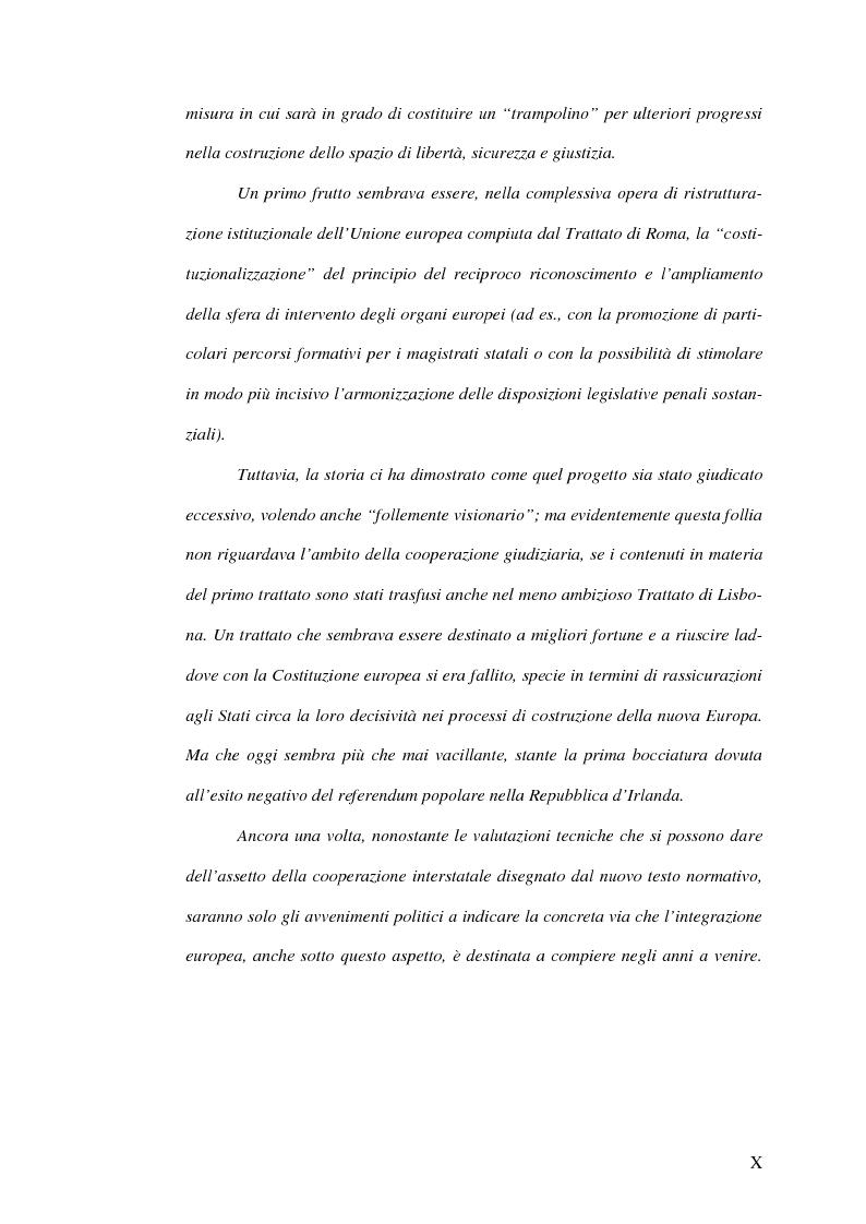 Anteprima della tesi: Il mandato d'arresto europeo. I profili sostanziali della cooperazione degli Stati membri dell'Unione Europea in materia penale tra disciplina comunitaria e principi di garanzia., Pagina 4