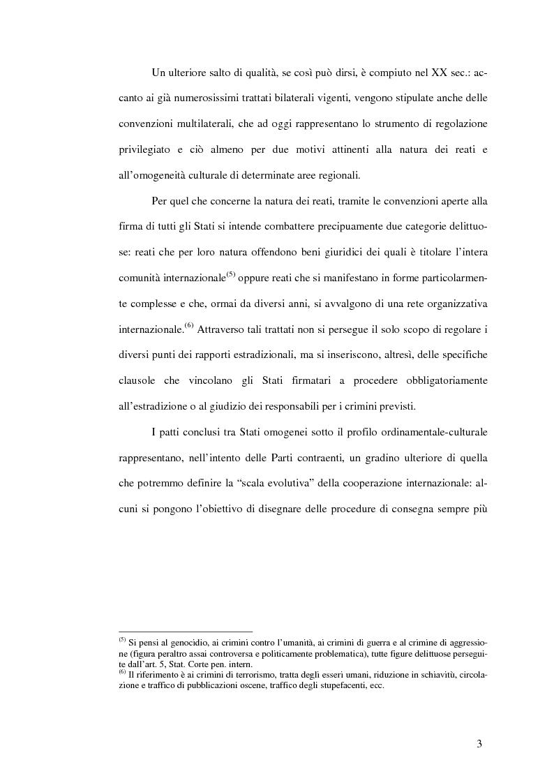 Anteprima della tesi: Il mandato d'arresto europeo. I profili sostanziali della cooperazione degli Stati membri dell'Unione Europea in materia penale tra disciplina comunitaria e principi di garanzia., Pagina 7