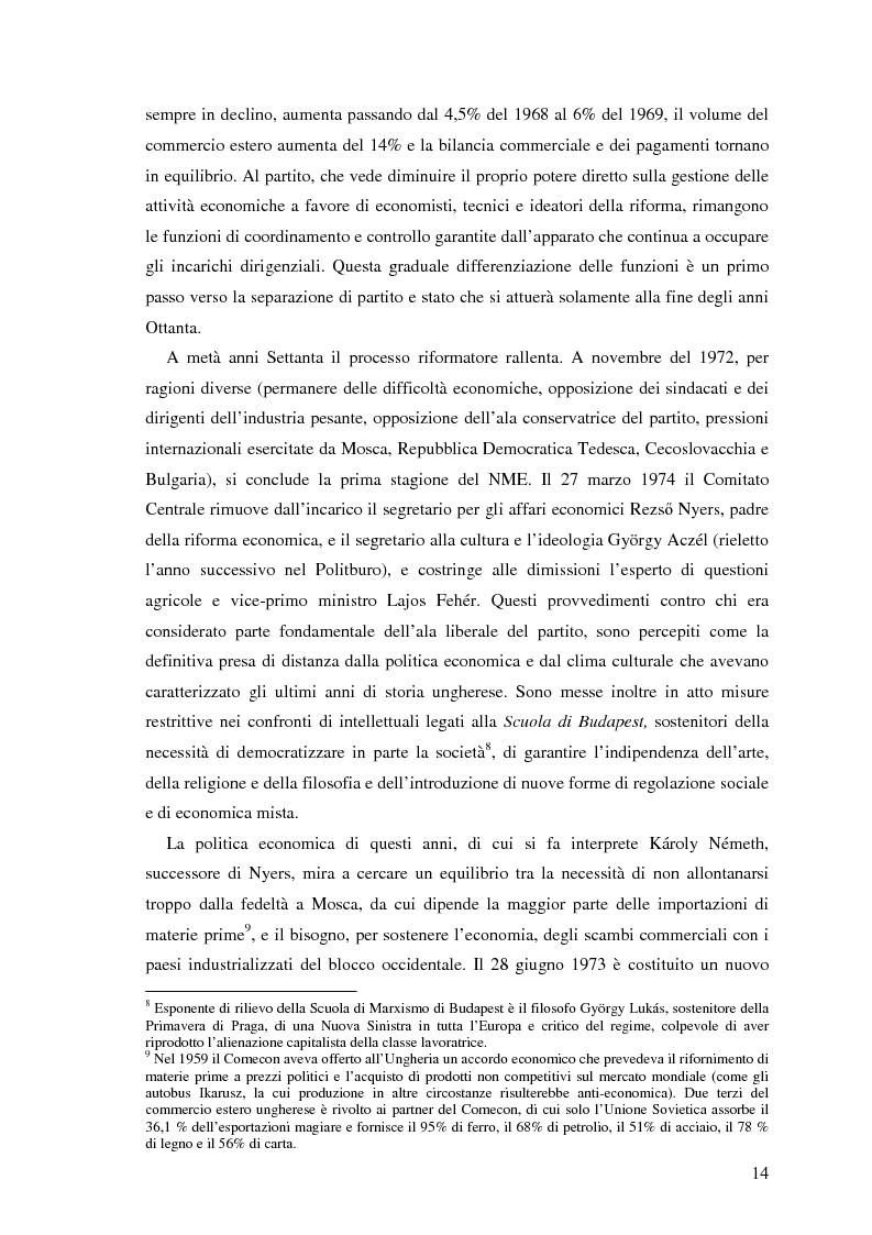 Anteprima della tesi: Il processo di transizione in Ungheria e Romania, Pagina 10