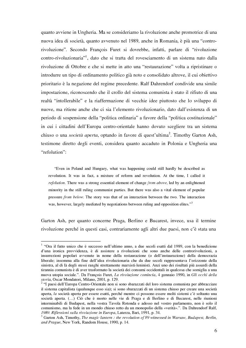 Anteprima della tesi: Il processo di transizione in Ungheria e Romania, Pagina 2