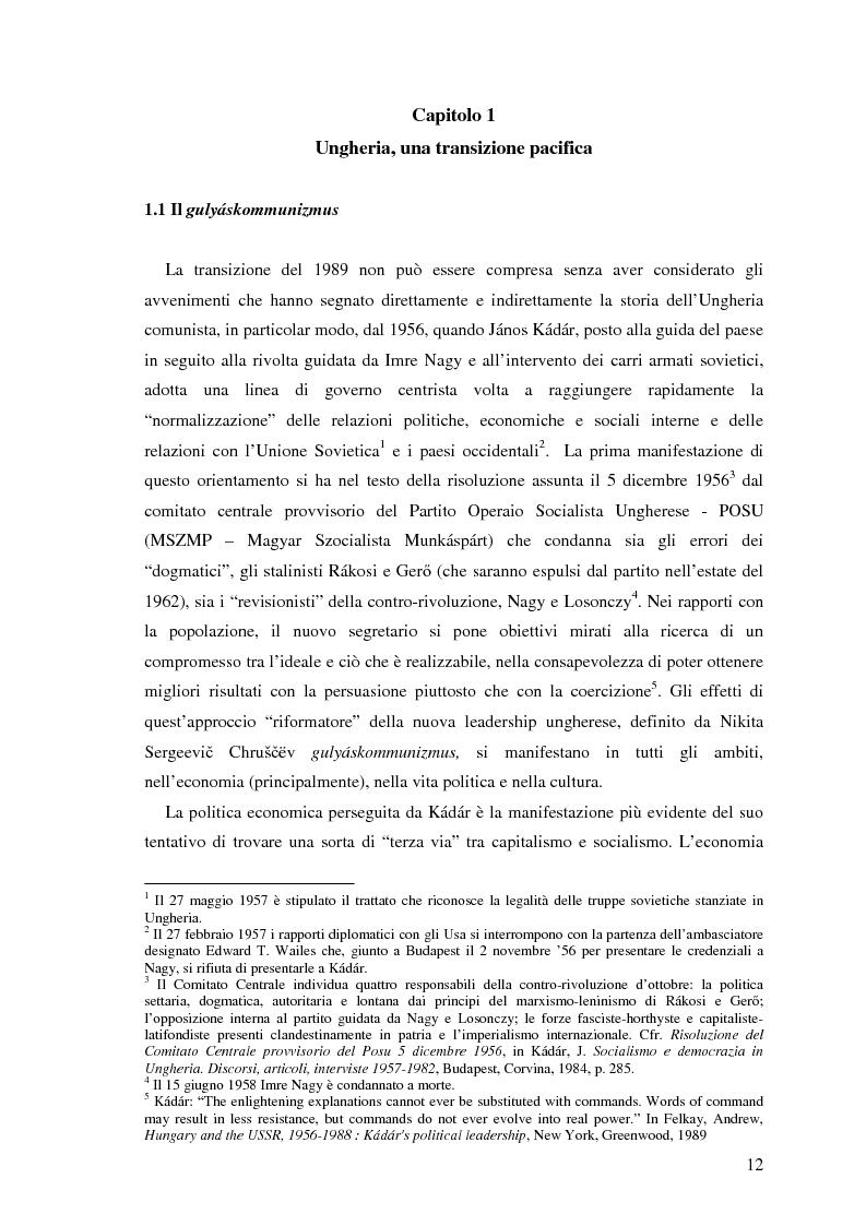 Anteprima della tesi: Il processo di transizione in Ungheria e Romania, Pagina 8
