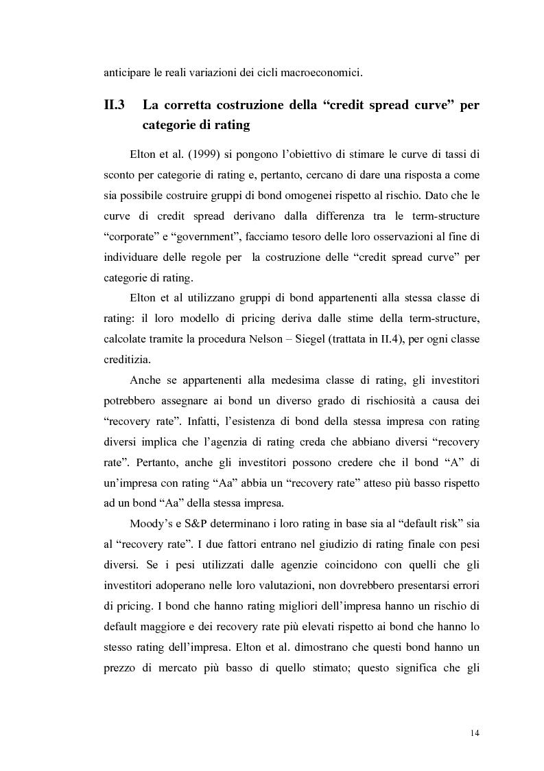 Anteprima della tesi: Le determinanti e l'hedging dei credit spread con le opzioni put europee su indice: una verifica empirica, Pagina 14