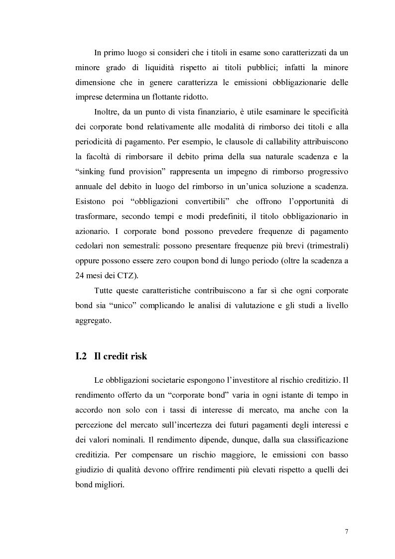 Anteprima della tesi: Le determinanti e l'hedging dei credit spread con le opzioni put europee su indice: una verifica empirica, Pagina 7