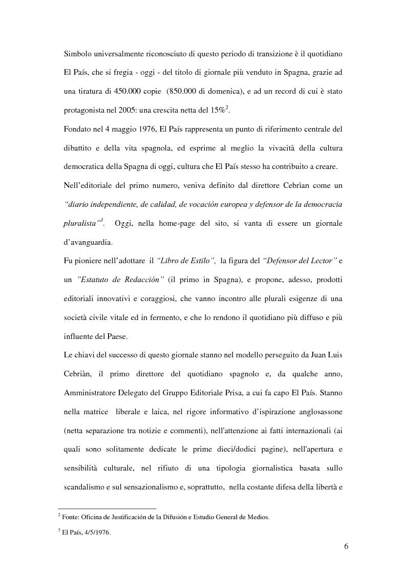 Anteprima della tesi: Il ruolo de El País nella transizione democratica spagnola tra il 1976 e il 1982, Pagina 2