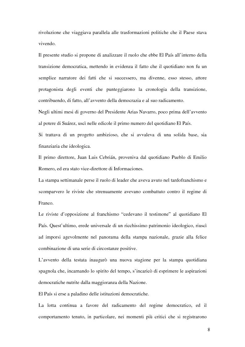 Anteprima della tesi: Il ruolo de El País nella transizione democratica spagnola tra il 1976 e il 1982, Pagina 4
