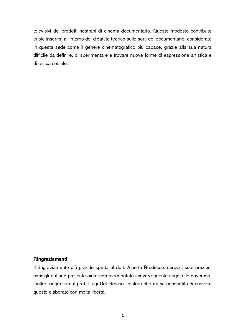 Anteprima della tesi: Il documentario: la costruzione sociale di un genere cinematografico, Pagina 2