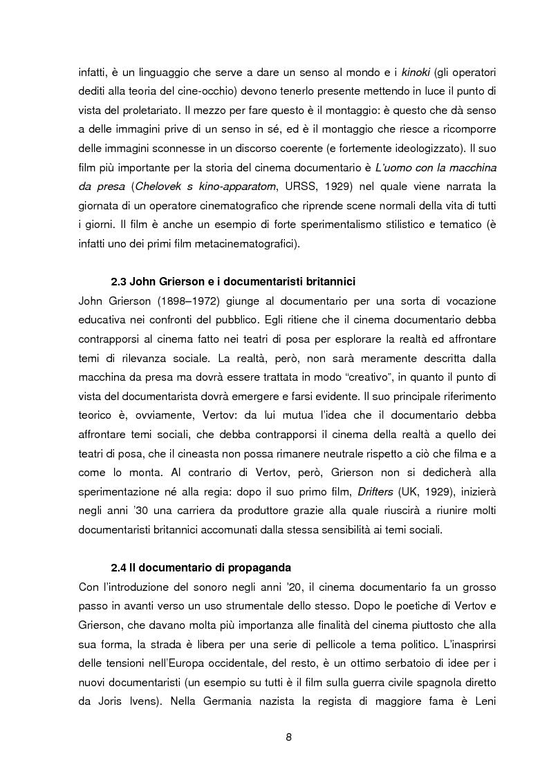 Anteprima della tesi: Il documentario: la costruzione sociale di un genere cinematografico, Pagina 5