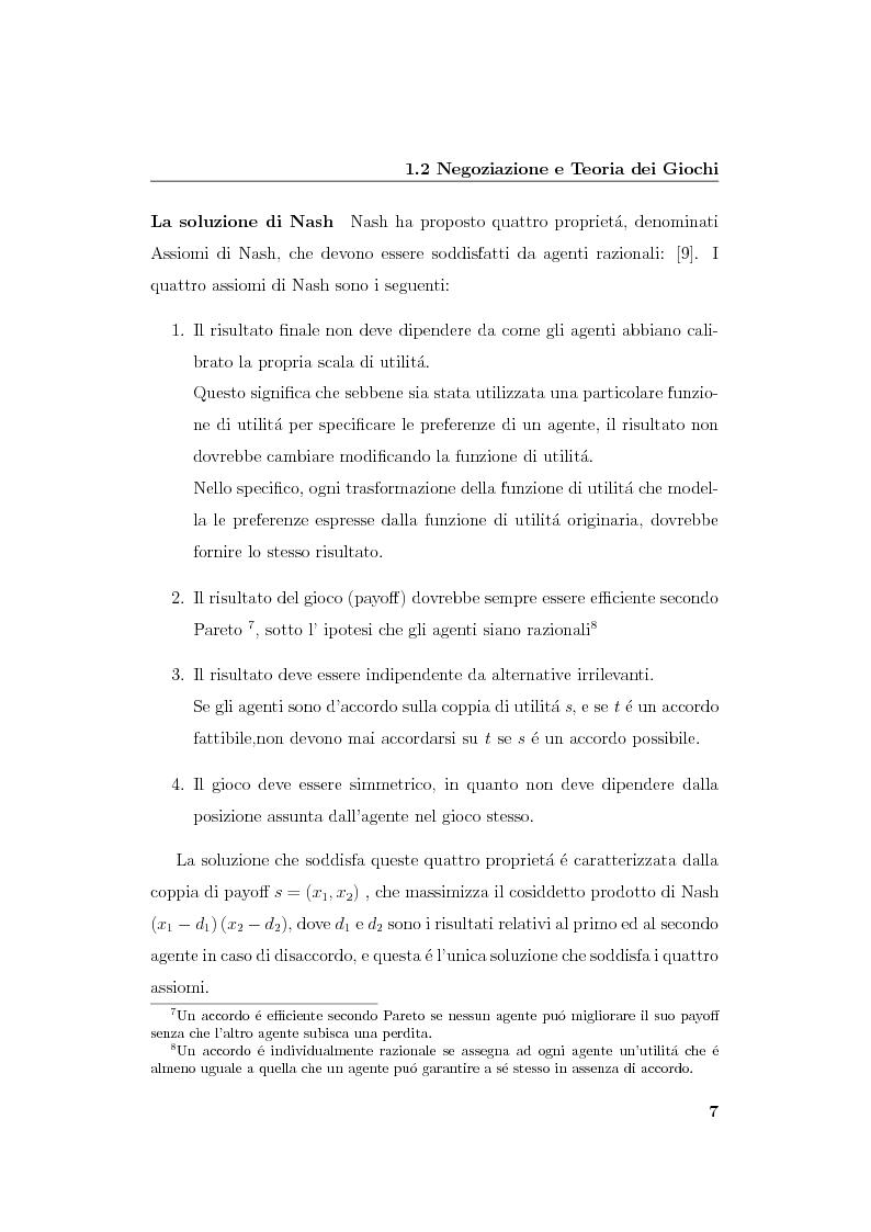Anteprima della tesi: Progetto e realizzazione di un sistema per la negoziazione multiattributo con informazione incompleta, Pagina 10