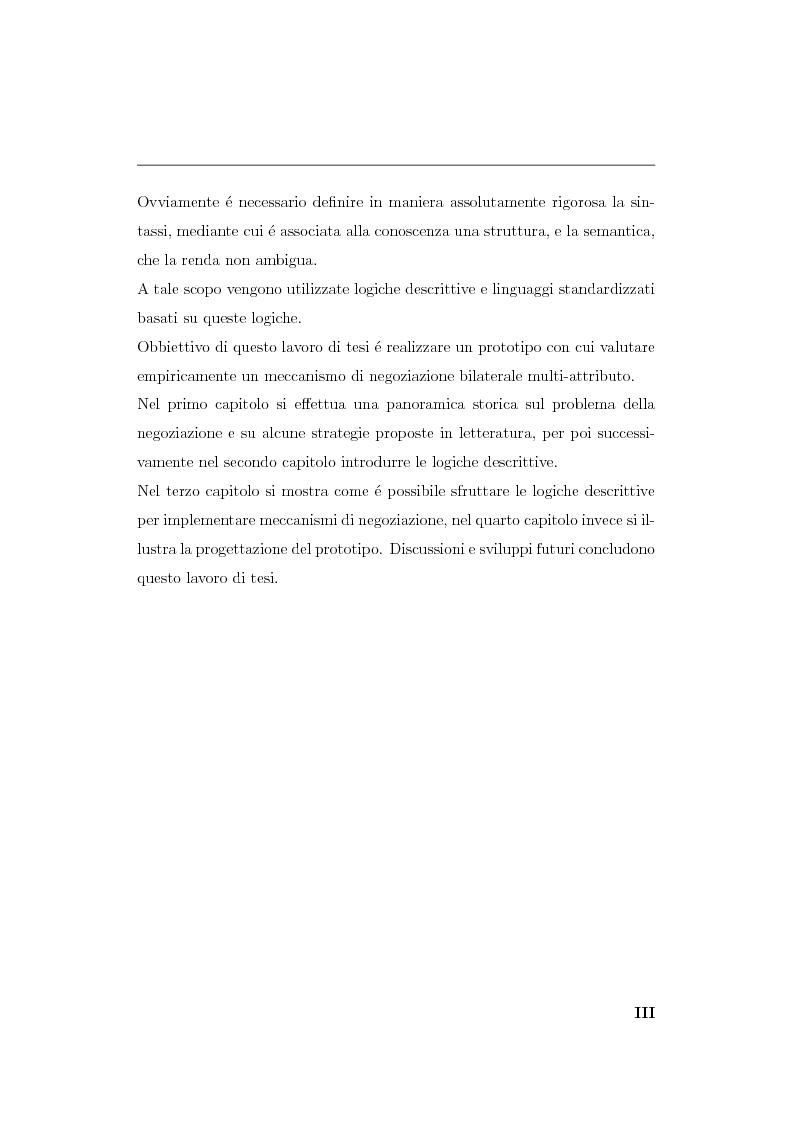 Anteprima della tesi: Progetto e realizzazione di un sistema per la negoziazione multiattributo con informazione incompleta, Pagina 3
