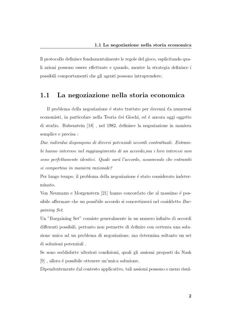Anteprima della tesi: Progetto e realizzazione di un sistema per la negoziazione multiattributo con informazione incompleta, Pagina 5