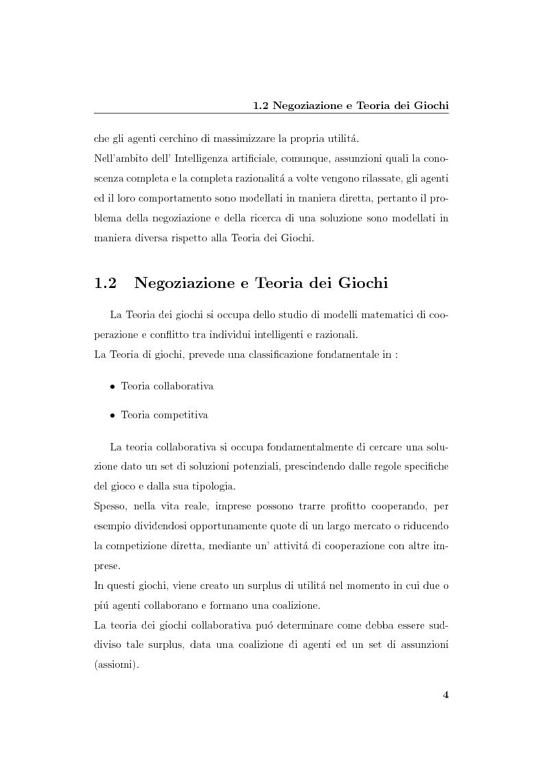 Anteprima della tesi: Progetto e realizzazione di un sistema per la negoziazione multiattributo con informazione incompleta, Pagina 7