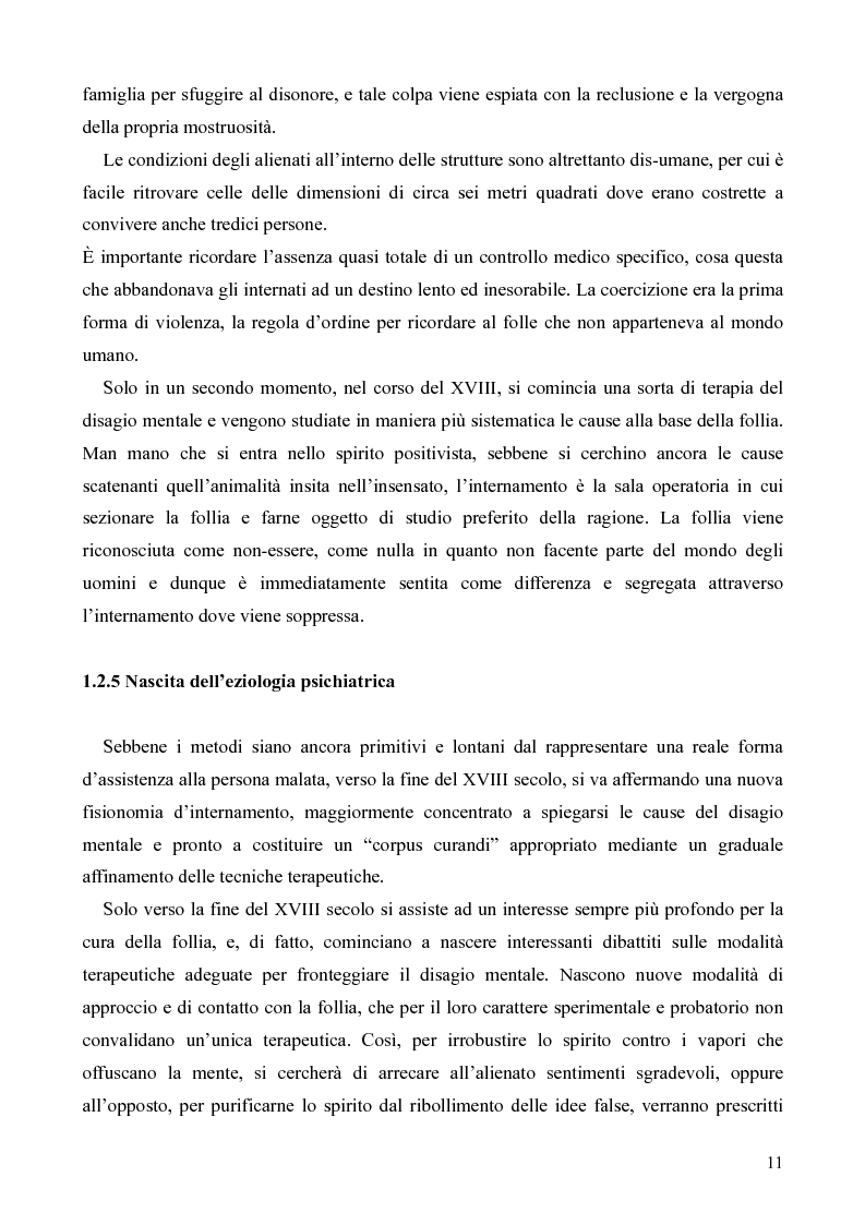 Anteprima della tesi: Il servizio territoriale di salute mentale - Riflessioni per una cura possibile, Pagina 10