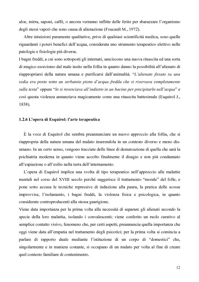Anteprima della tesi: Il servizio territoriale di salute mentale - Riflessioni per una cura possibile, Pagina 11