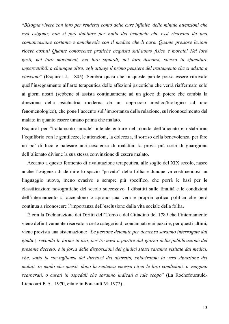 Anteprima della tesi: Il servizio territoriale di salute mentale - Riflessioni per una cura possibile, Pagina 12