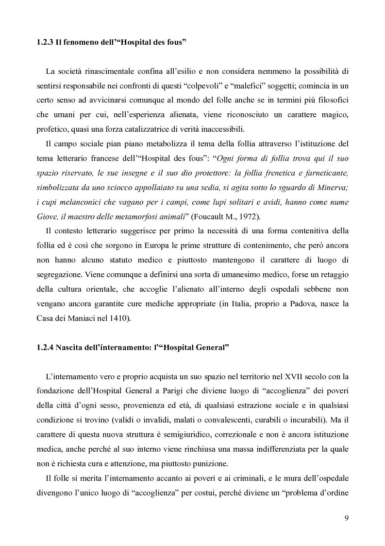 Anteprima della tesi: Il servizio territoriale di salute mentale - Riflessioni per una cura possibile, Pagina 8