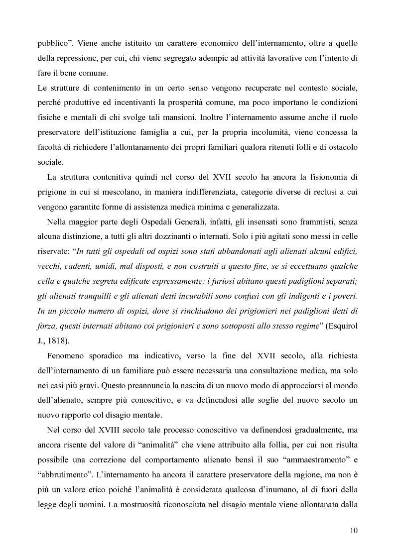 Anteprima della tesi: Il servizio territoriale di salute mentale - Riflessioni per una cura possibile, Pagina 9