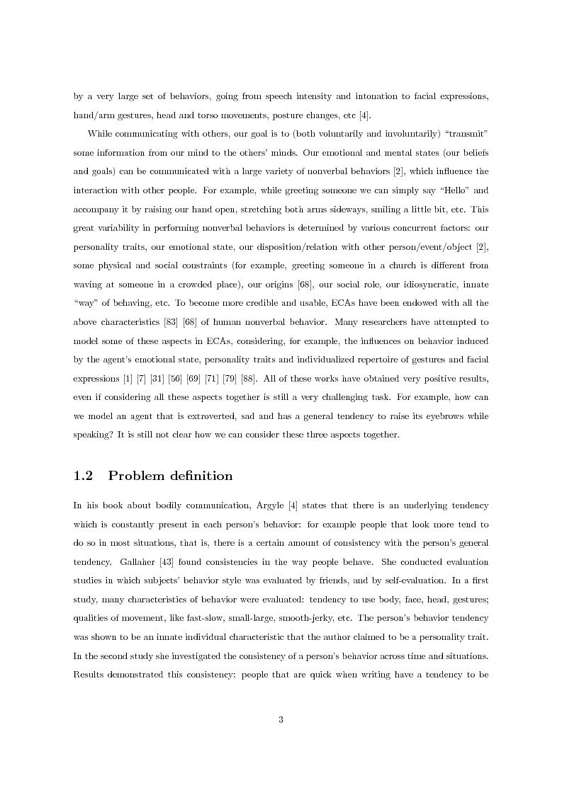 Anteprima della tesi: Multimodal Distinctive Behavior for Expressive Embodied Conversational Agents, Pagina 2