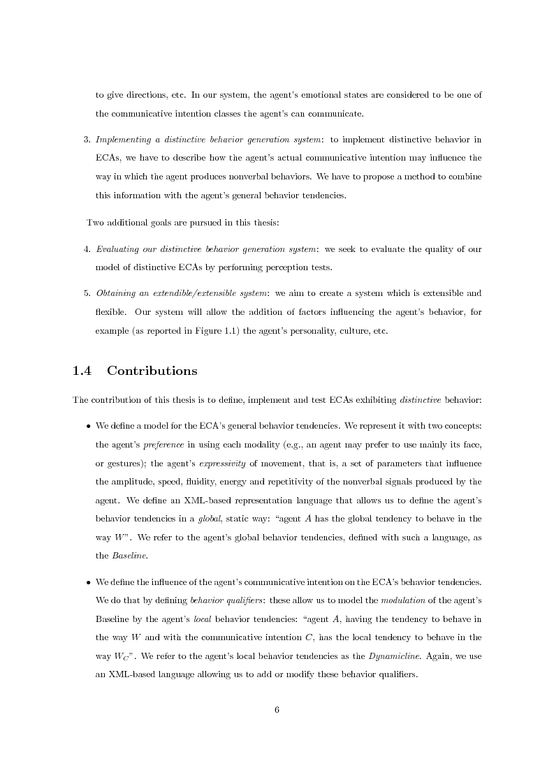 Anteprima della tesi: Multimodal Distinctive Behavior for Expressive Embodied Conversational Agents, Pagina 5
