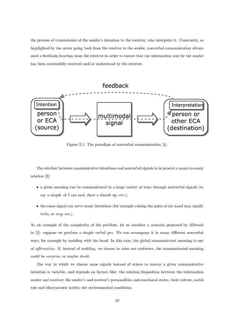 Anteprima della tesi: Multimodal Distinctive Behavior for Expressive Embodied Conversational Agents, Pagina 9