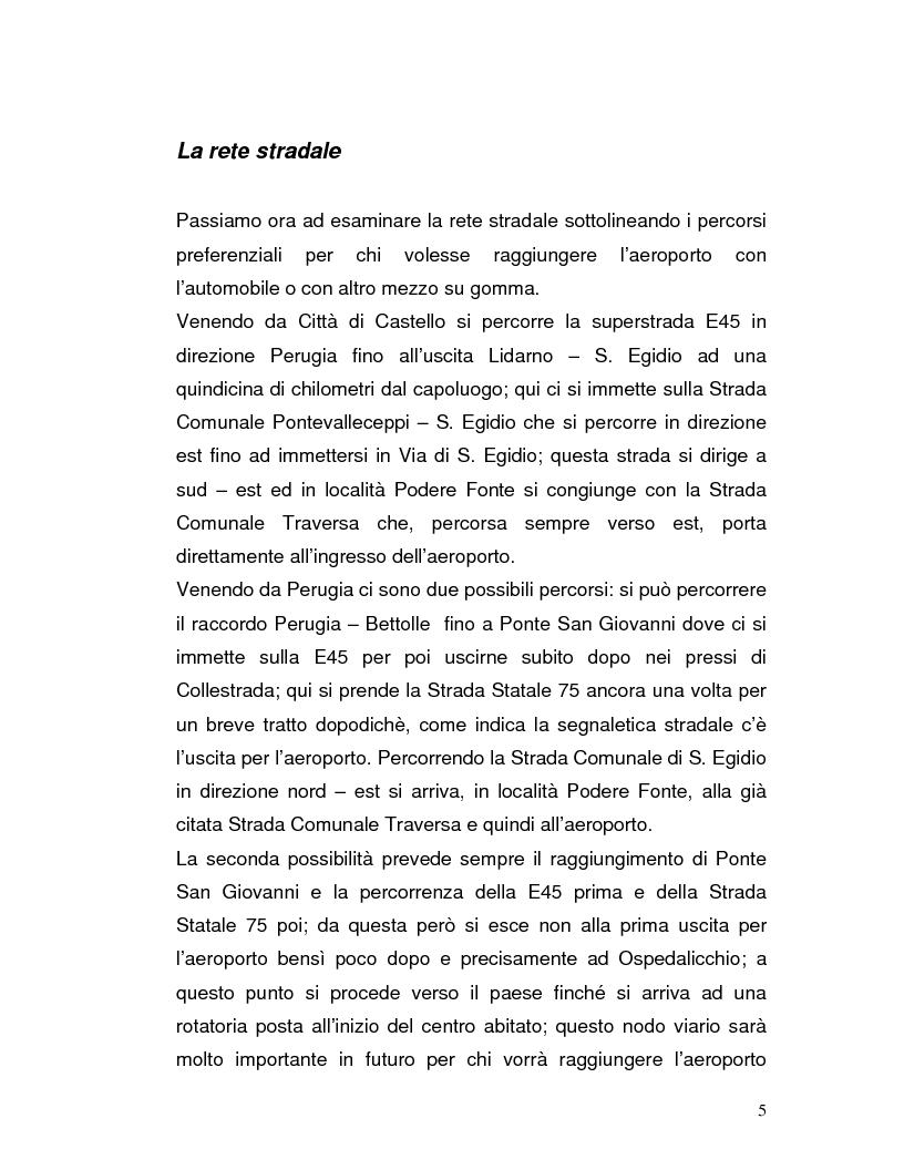 Anteprima della tesi: Trasporto automatico leggero tra la linea ferroviaria Foligno-Terontola e l'aeroporto internazionale di Sant'Egidio. Progetto della stazione d'interscambio di Ospedalicchio., Pagina 5