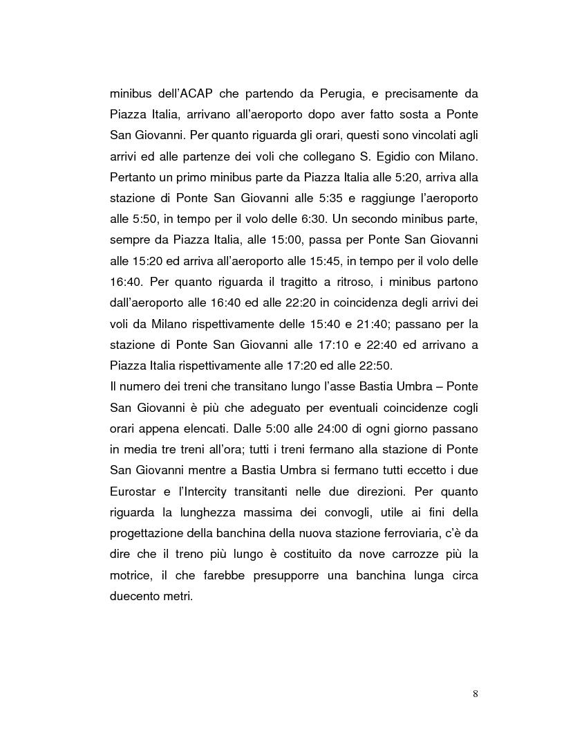 Anteprima della tesi: Trasporto automatico leggero tra la linea ferroviaria Foligno-Terontola e l'aeroporto internazionale di Sant'Egidio. Progetto della stazione d'interscambio di Ospedalicchio., Pagina 8