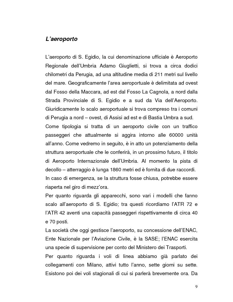 Anteprima della tesi: Trasporto automatico leggero tra la linea ferroviaria Foligno-Terontola e l'aeroporto internazionale di Sant'Egidio. Progetto della stazione d'interscambio di Ospedalicchio., Pagina 9