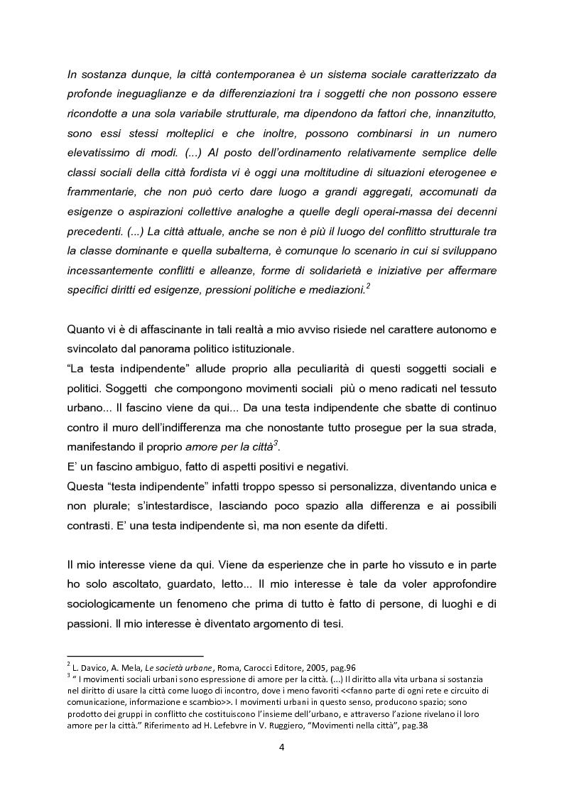Anteprima della tesi: La testa indipendente. Movimenti sociali urbani e centri sociali autogestiti, Pagina 2