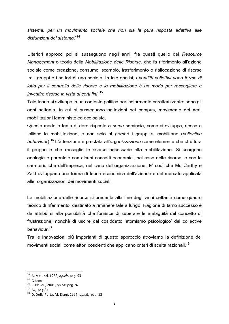 Anteprima della tesi: La testa indipendente. Movimenti sociali urbani e centri sociali autogestiti, Pagina 6