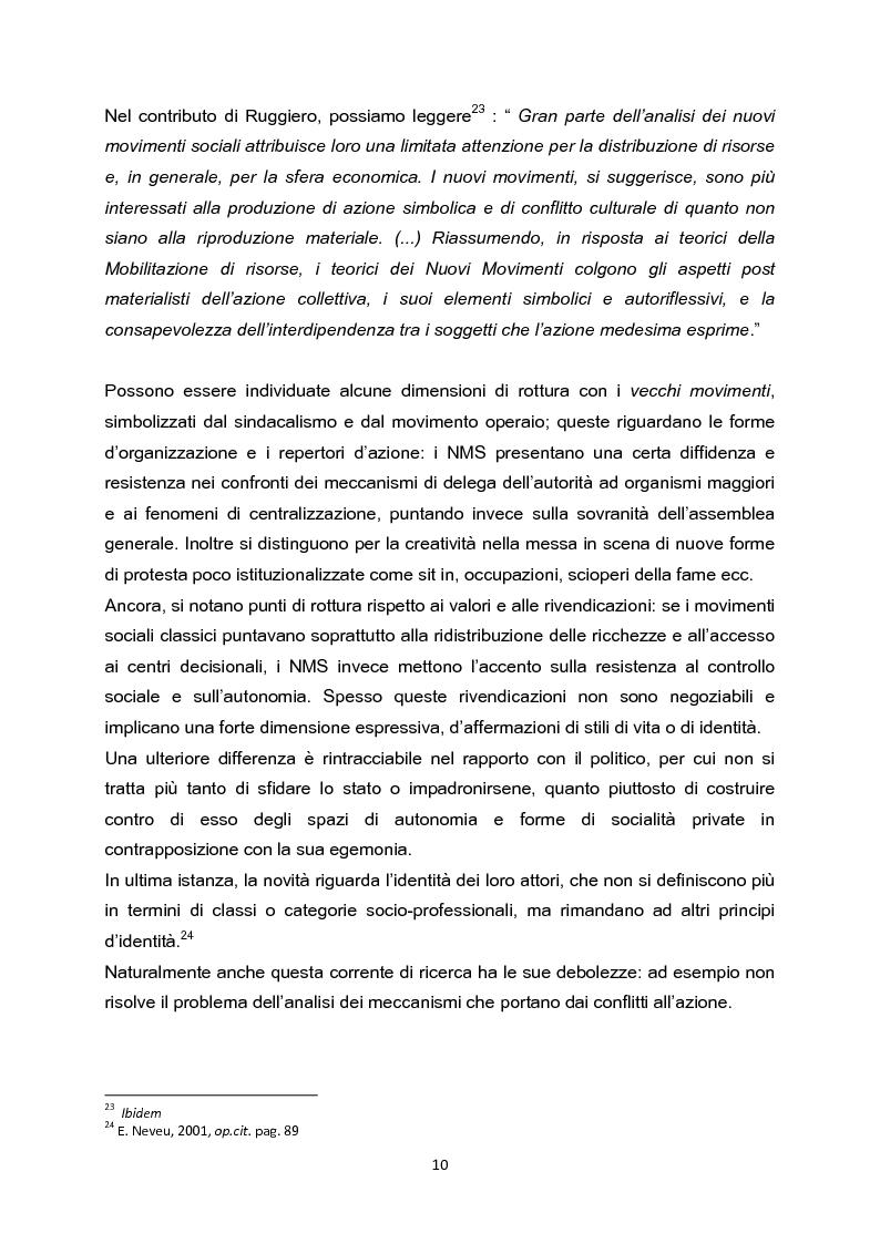 Anteprima della tesi: La testa indipendente. Movimenti sociali urbani e centri sociali autogestiti, Pagina 8