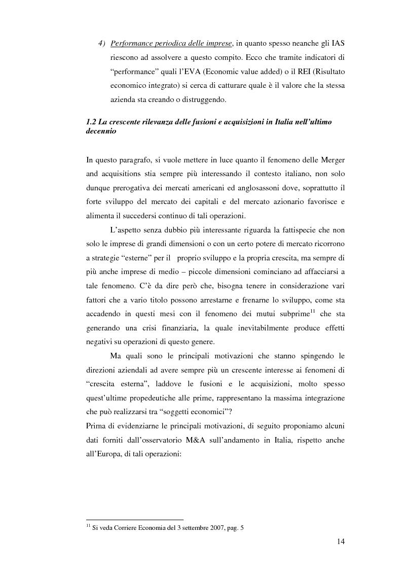 Anteprima della tesi: I nuovi approcci valutativi nelle operazioni di Merger and acquistion. La fusione di I.Net S.p.A. in BT Italia S.p.A., Pagina 11