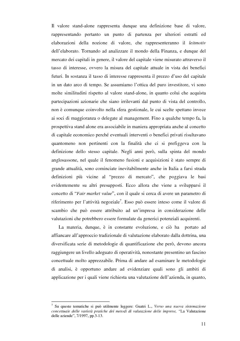 Anteprima della tesi: I nuovi approcci valutativi nelle operazioni di Merger and acquistion. La fusione di I.Net S.p.A. in BT Italia S.p.A., Pagina 8