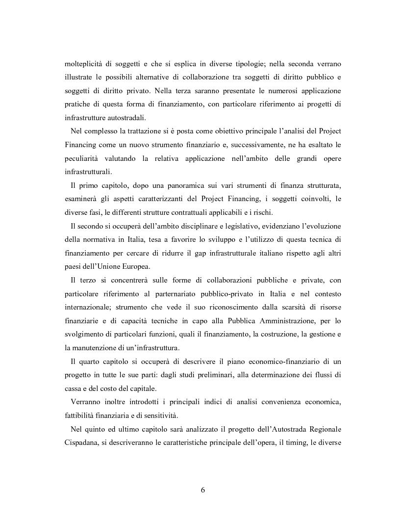 Anteprima della tesi: Il project financing ed il partenariato pubblico-privato: l'autostrada regionale Cispadana, Pagina 2