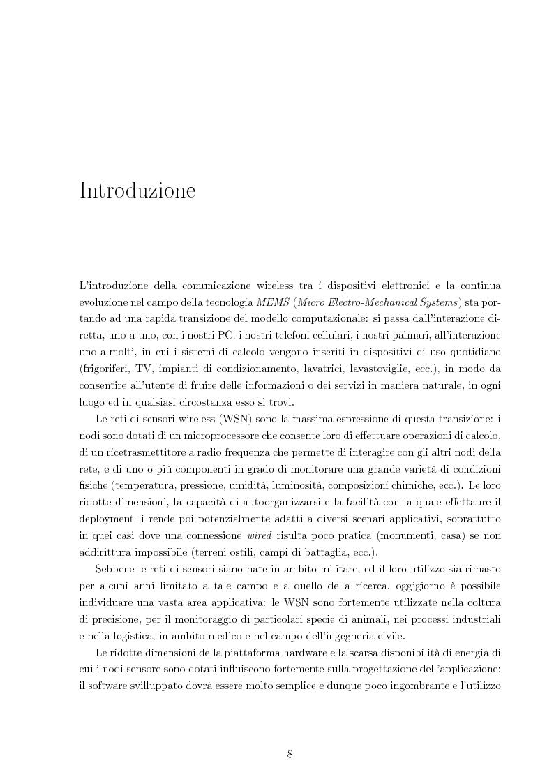 Anteprima della tesi: Sistema per la riprogrammazione wireless ed il monitoraggio delle reti di sensori wireless, Pagina 1