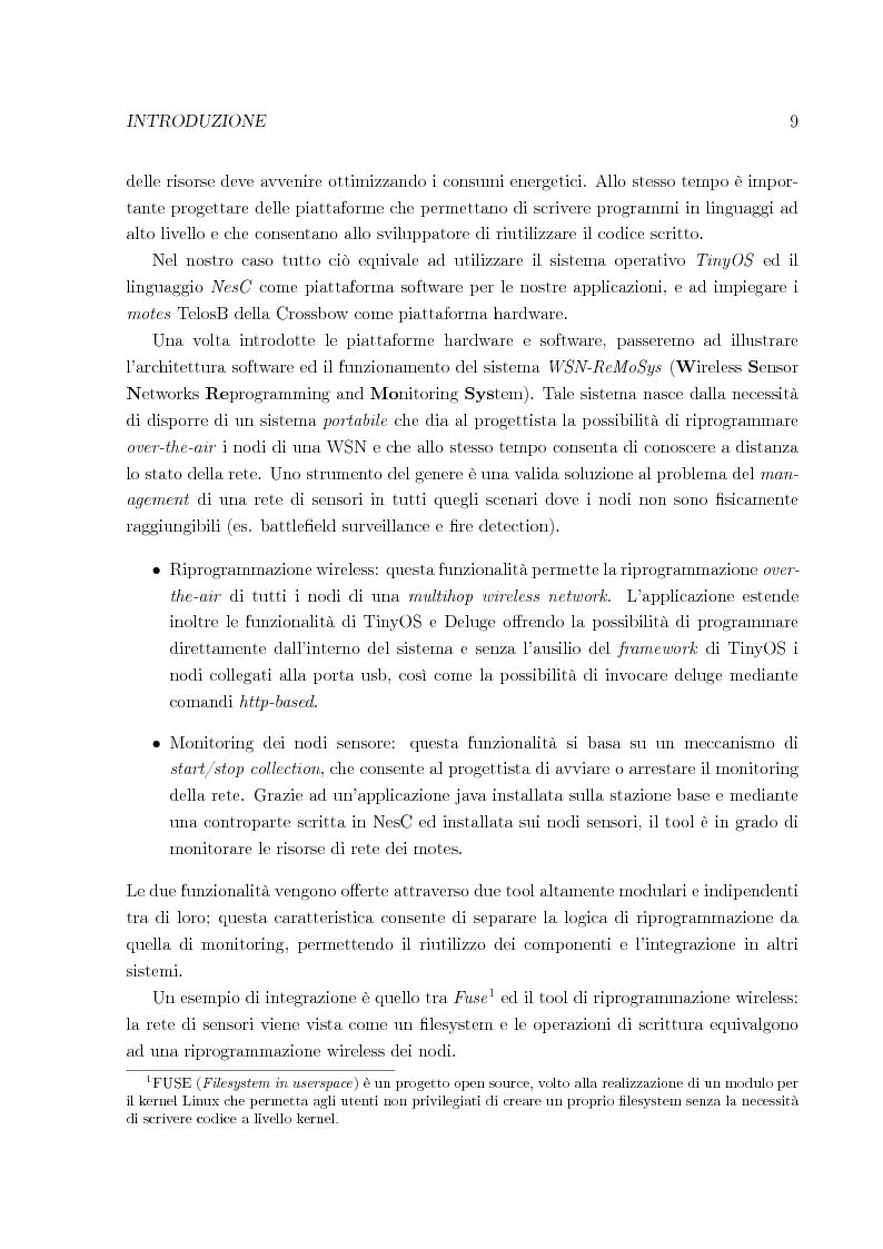 Anteprima della tesi: Sistema per la riprogrammazione wireless ed il monitoraggio delle reti di sensori wireless, Pagina 2